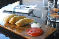 "EVAN DUCHARME - Empanada-shaped quesadillas ""Tijuana."""