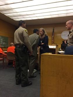 Enrique Pearce in court on Monday. - JONAH OWEN LAMB/TWITTER