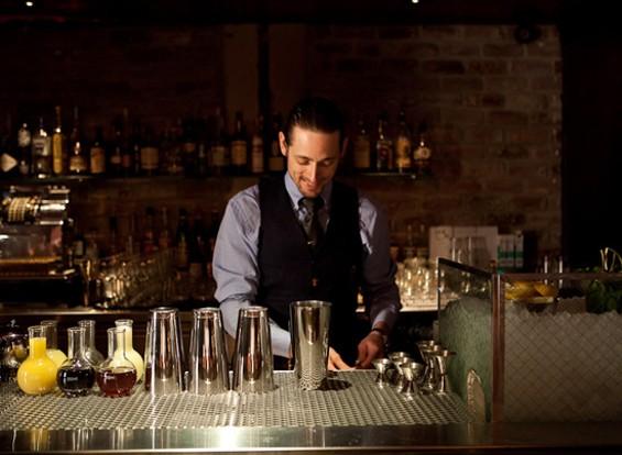 Eric Alperin behind the bar at The Varnish - THE VARNISH