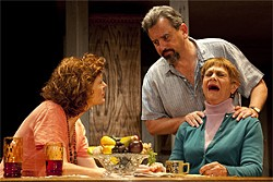 ROBERT J. SAFERSTEIN - Estelle Parsons (far right) slurs and slashes her way through the play as if she's a pirate on very potent painkillers.