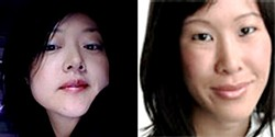Euna Lee (left) and Laura Ling