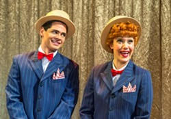Euriamis Losada (Ricky Ricardo) and Thea Brooks (Lucy Ricardo) in the national tour of I Love Lucy® Live On Stage - JUSTIN NAMON
