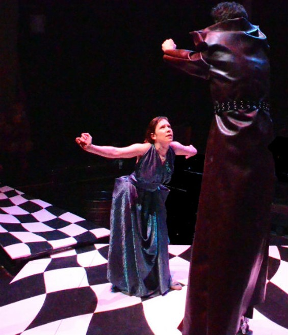 Eurydice (Jessica Rudholm) goes to hell in Sarah Ruhl's eponymous play. - JAY YAMADA