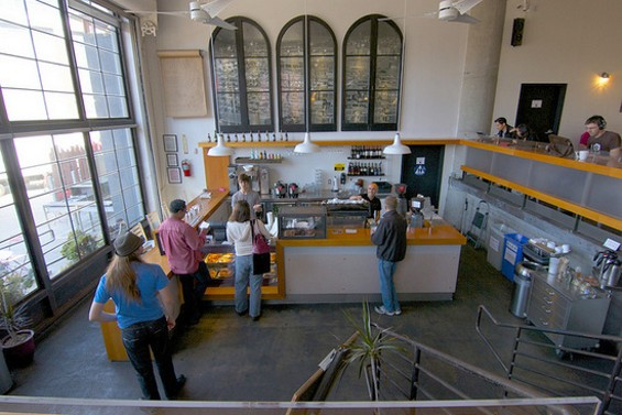 Even if you're sitting up in Coffee Bar's mezzanine, it's polite to keep buying coffee. - CHRISTIAN NEUGEBAUER/FLICKR