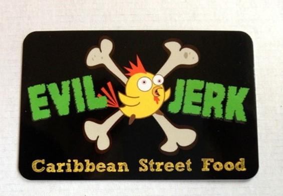 Evil Jerk Cart's new business cards. - LISETTE TITRE