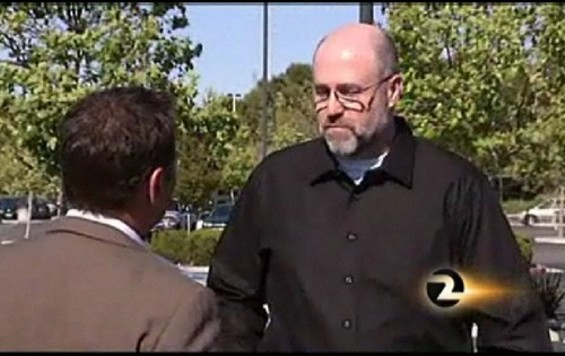 Far from being a 'Man on the Street,' Republican voter Jim Freeman was the originator of the Facebook 'liberal hunting' story - SCREEN CAPTURE   |   KTVU