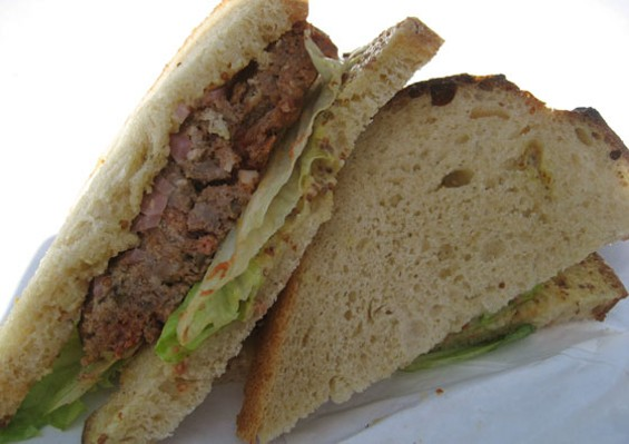 Fatted Calf's meatloaf sandwich, $9.50. - JONATHAN KAUFFMAN