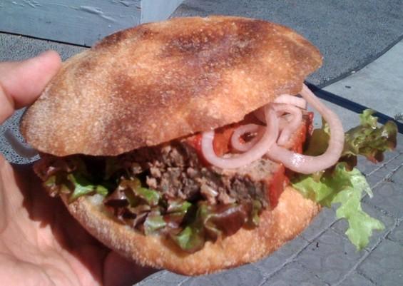 Fatted Calf's meatloaf sandwich, $9.50. - JONATHAN KAUFFMAN