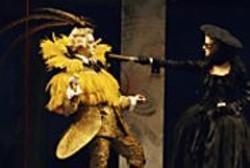 KEN  FRIEDMAN - Feathers and Fops: The Marquis de - Fauxpas (Anthony Fusco) woos Madame - Argante (Ren Augesen).