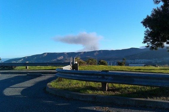 Fifteen minutes after the San Bruno blast, black smoke could be seen from McLaren Park