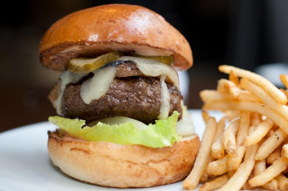 Fifth Floor's burger, $16. - ALBERT LAW