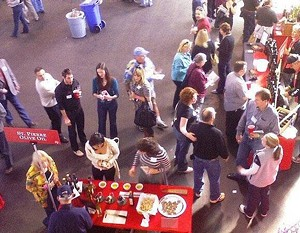 Fifty eateries, fifty wineries, paired up in the buddy system at Herbst Pavilion. - DR_XENO/FLICKR
