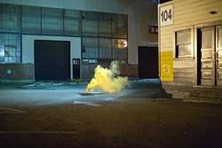 Filippo Minelli's photos make the chaos of protest into a quiet, meditative act.