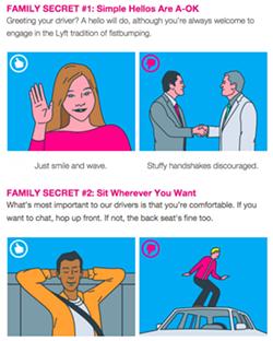 A new Lyft etiquette primer.