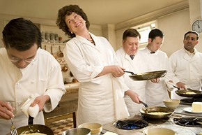 Flipping for Julia: Streep as the French food maven at the Cordon Bleu in Paris. - SONY PICTURES