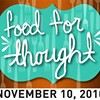 Food for Thought Returns to the Mission Nov. 10