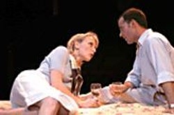 DAVID  ALLEN - Fools for Love: Emma (Carrie Paff) and - Jerry (Christopher Marshall) meet for a tryst.