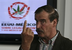 MARIOARMAS/AP PHOTO - Former Mexican President Vicente Fox is a staunch advocate of legalizing all drugs — and a friend, and possible business partner, of a Seattle-based entrepreneur who wants to sell legal marijuana.