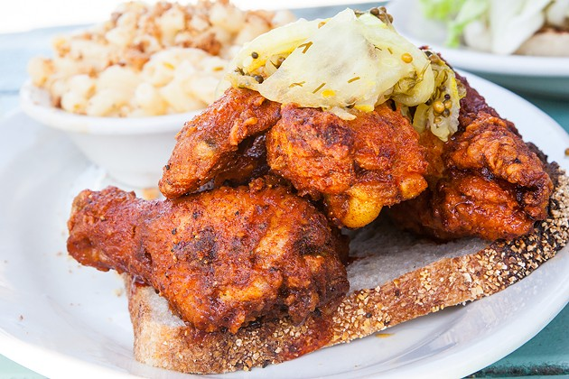Fremont Diner's hot chicken. - THE DAPPER DINER
