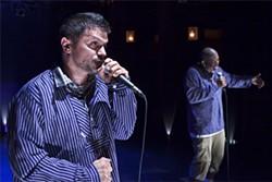 KEN FRIEDMAN - Frequent collaborators Dan Wolf (left) and Tommy Shepherd.