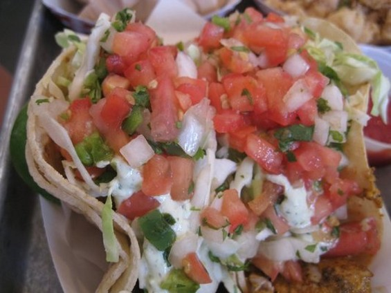 Fresh, but with unyielding tortillas: Fish tacos at Gott's. - JONAS T./YELP