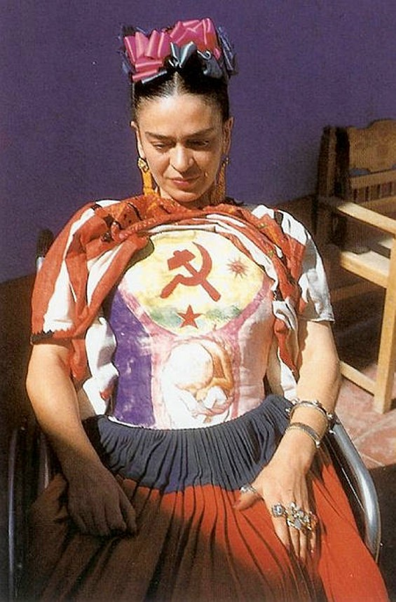 Frida Kahlo painted this cast after a near-death accident.