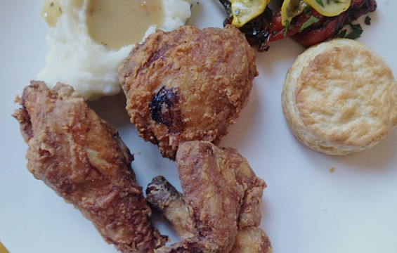 Fried chicken dinner special at Firefly. - CHRISTINA SPITTLER