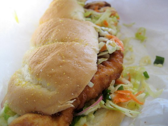 Fried chicken sandwich, $8.22. - JONATHAN KAUFFMAN