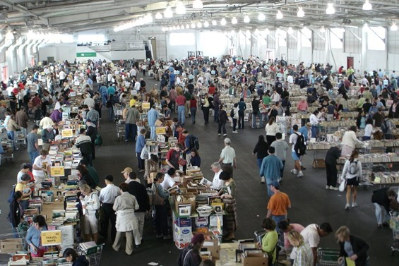 Friends of the San Francisco Public Library's big book sale at Fort Mason.