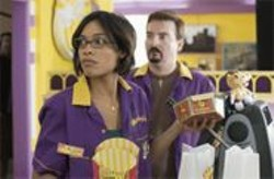 DARREN  MICHAELS - Fries With That? Rosario Dawson as Becky Scott and Brian O'Halloran as Dante Hicks.