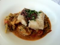 Fringale's black cod with piperade, $21 for lunch/$25 for dinner. - JONATHAN KAUFFMAN