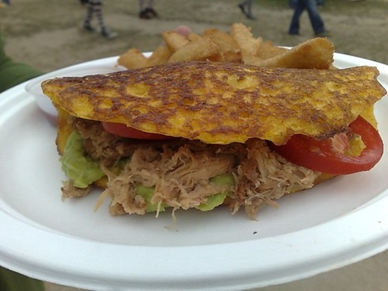 From last year's Outside Lands music festival, Pica Pica's cachapas. - TAMARA PALMER