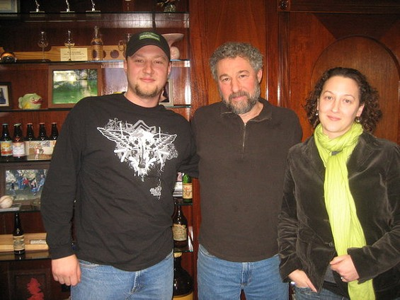 From left, Brian, Ken, and Sierra Grossman. - BRIAN YAEGER