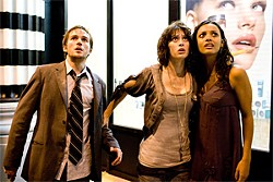 From left to right: Michael Stahl-David, Lizzy Caplan and Jessica Lucas