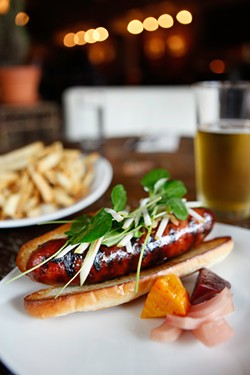KIMBERLY SANDIE - From the farm to the table: maple andouille sausage.