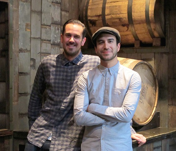 From the left: Rickhouse bar manger Lucien Sankey, and general manager Dan Chavez Stahl - LOU BUSTAMANTE