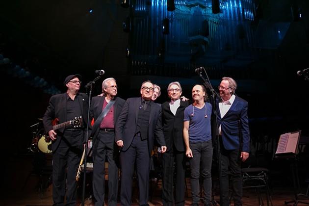 Drew Zingg, Karl Sevaride, Elvis Costello, Phil Lesh, Michael Tilson Thomas, Lars Ulrich, and Boz Scaggs. - © MOANALANI JEFFREY PHOTOGRAPHY