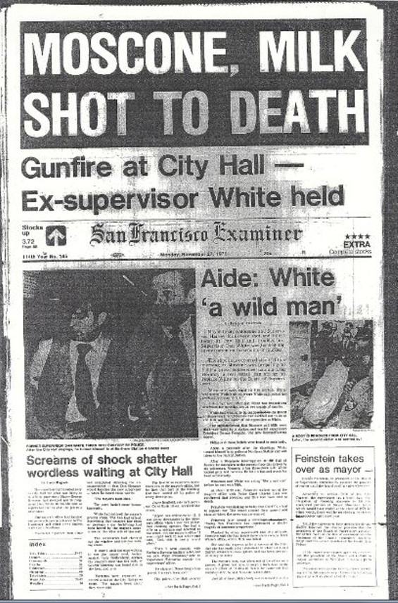 Front Page of The Examiner Detailing The Breaking News. - SF EXAMINER ARCHIVES