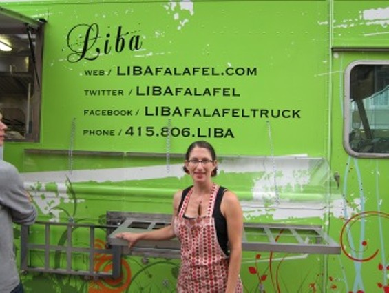Gail Lillian debuted Liba Falafel's new truck on Saturday