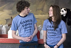 Games guy meets Games girl: Jesse Eisenberg  and Kristen Stewart.