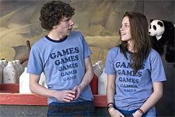 Games guy meets Games girl: Jesse Eisenberg  and Kristen Stewart.
