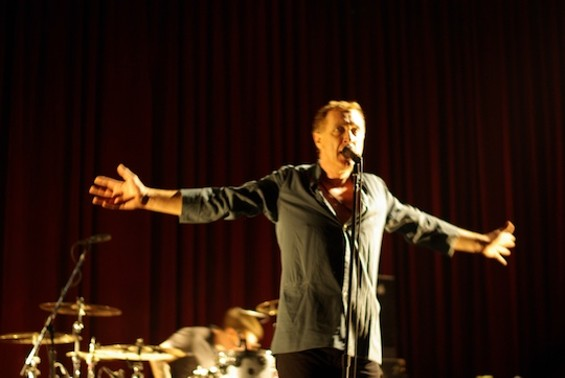 Gang of Four's Jon King at the Fillmore Saturday.