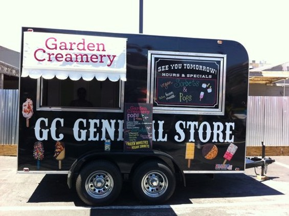 Garden Creamery's ice cream trailer. - YELP/FANCYPANTS X
