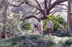 JON  FARMER - Garden of Readin': John (Matthew Settle) explores a mystical oasis with Julia (Annabeth Gish)