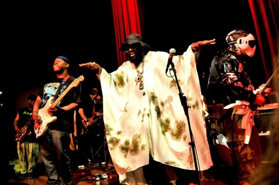 George Clinton and Parliament Funkadelic at Yoshi's on Friday. - CALIBREE PHOTOGRAPHY
