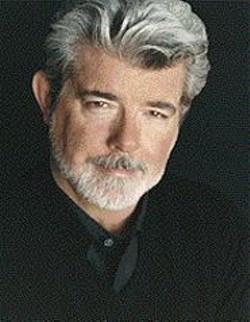 George Lucas (and his hair), at the - Rafael Film Center on April 29.