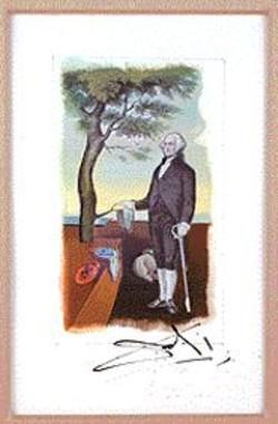 SALVADOR  DALI - George Washington and Melting - Clocks.