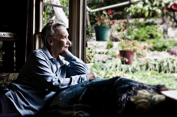 Georgina Spelvin today, gazing upon her garden.