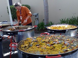 Gerard Nebesky's colorful paella