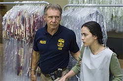 """Give me a dry-cleaning discount or I'll deport you"": Harrison Ford and Summer Bishil."